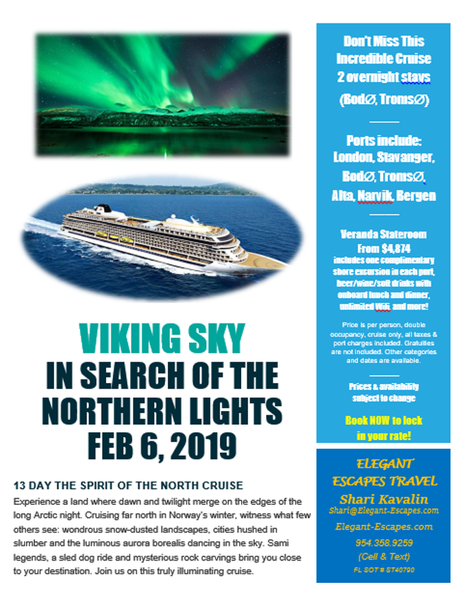 Hunt For Northern Lights Flyer